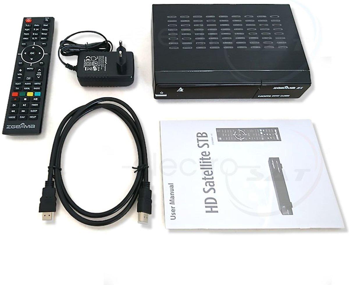 Zgemma H5 Combo, hybride ontvanger met DVB-S2 en DVB-C/T tuner