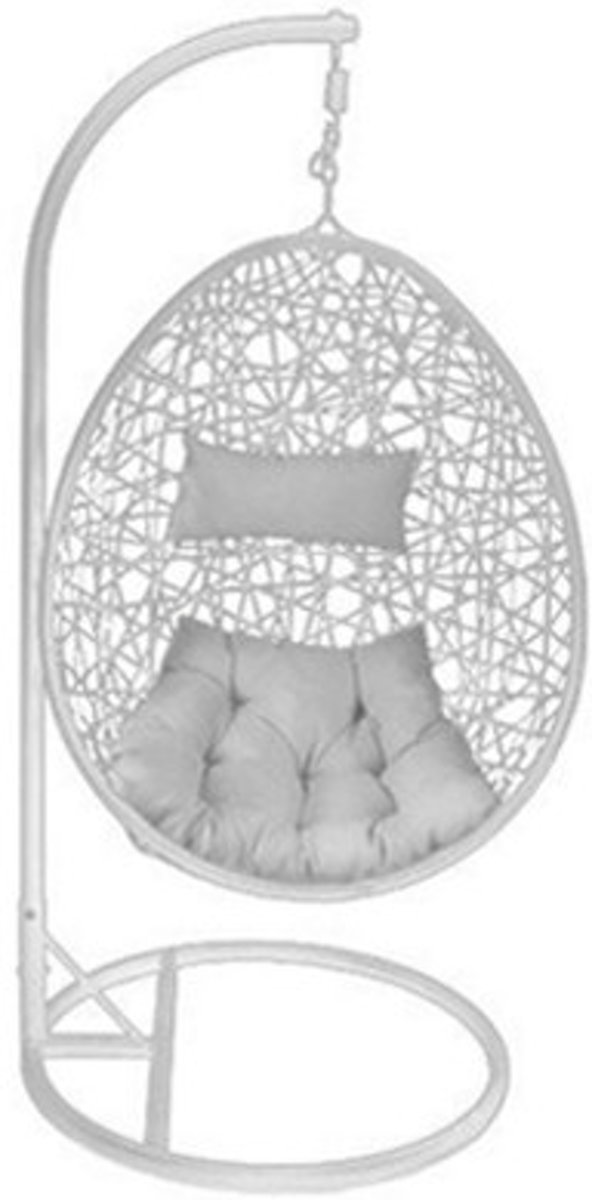Hangstoel Plafond Bevestigen.Bol Com Egg Hangstoel Cocoon Relax Wit