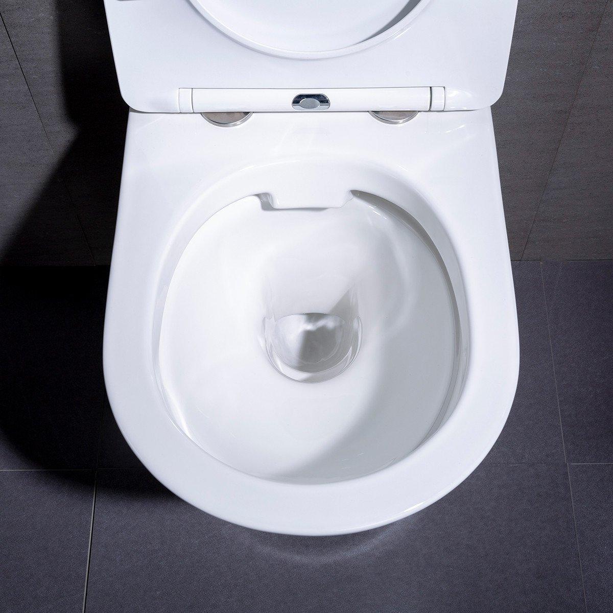 Afmeting Hangend Toilet.Wandcloset Hangend Toilet Saturna Flatline Inbouwtoilet Rimfree Wc Pot