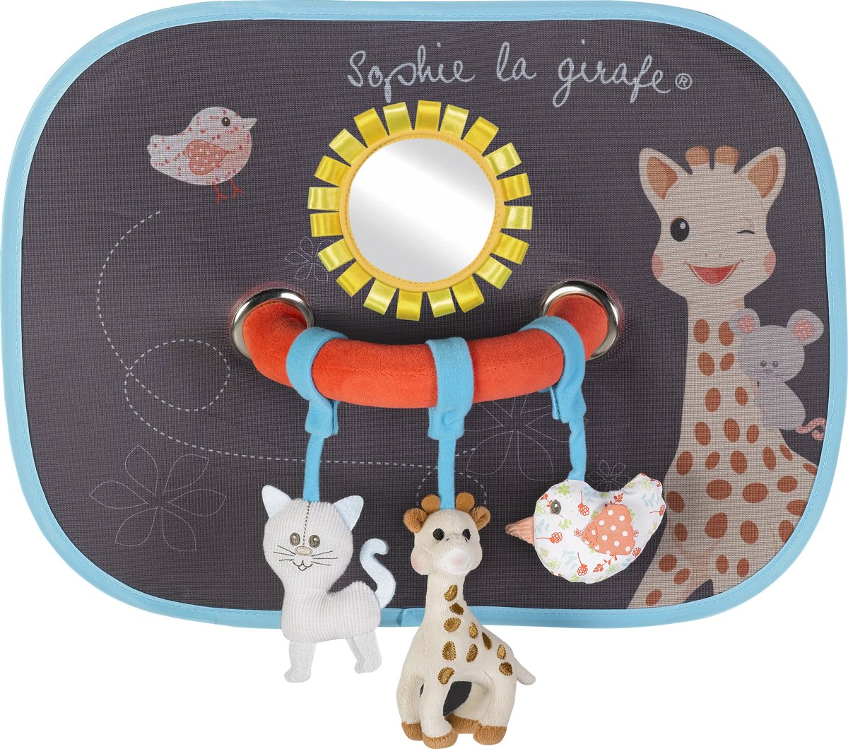 Sophie de Giraf - Zonnescherm Auto (2x) - activiteiten boog