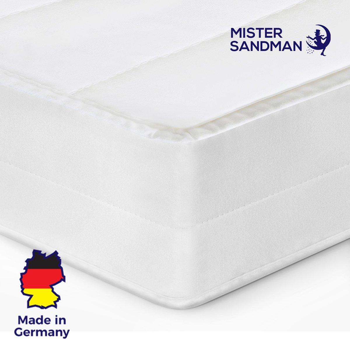 Matras - 60x120 - 7 zones - koudschuim - microvezel tijk - 15 cm hoog - medium & hard