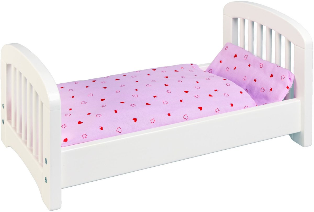 Poppenbed blank hout
