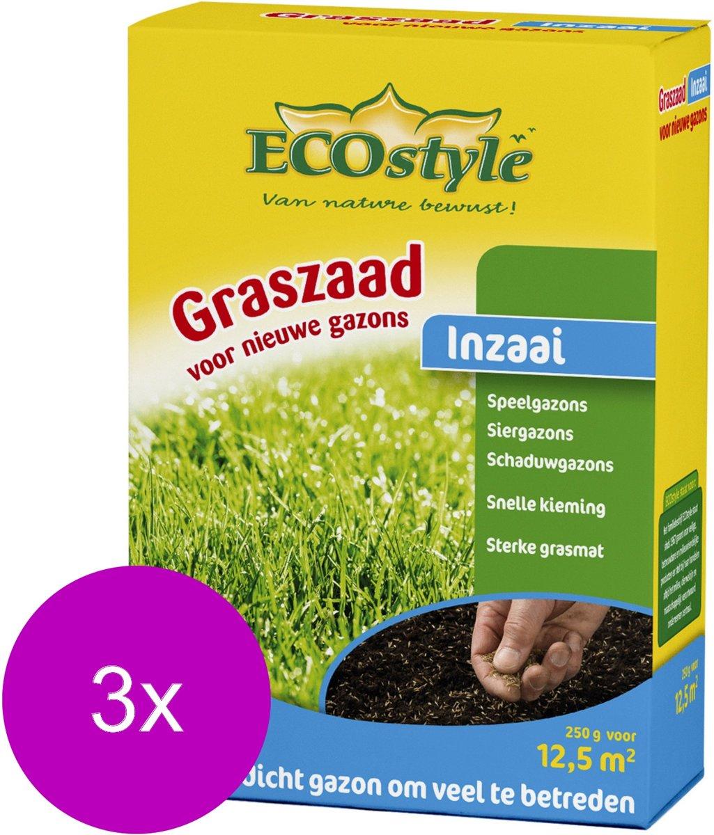 Ecostyle Graszaad-Inzaai 12.5 m2 - Graszaden - 3 x 250 g kopen