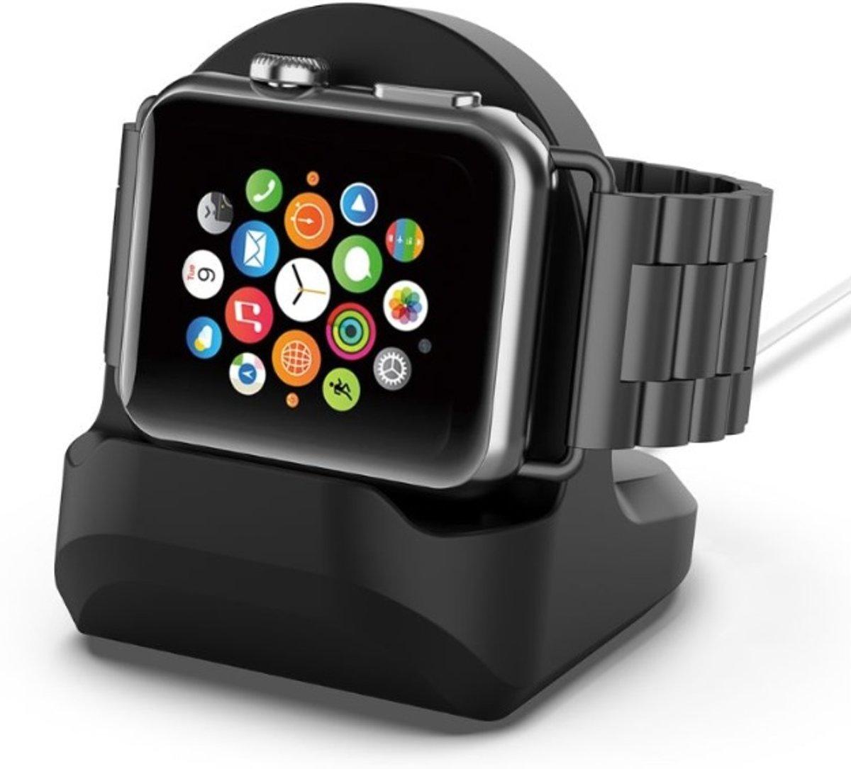 Apple Watch - Docking station - Houder - Tafelhouder - Universeel alle modellen - ZWART kopen