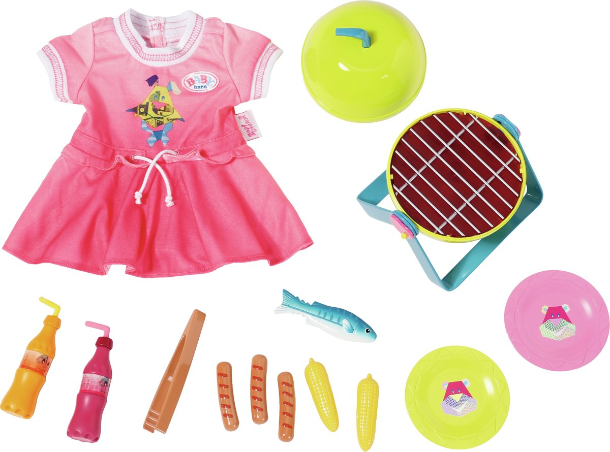 BABY born barbecueset Play&Fun 43 cm multicolor 13 delig