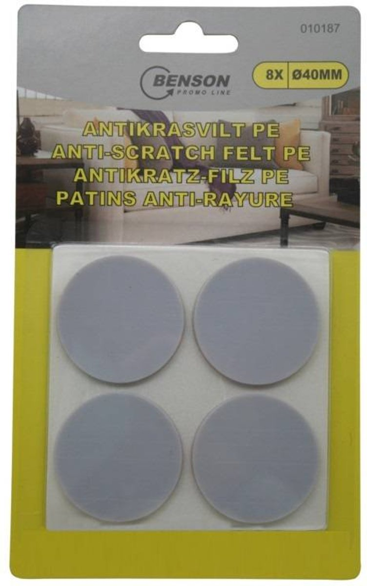 Bellson AntiKras vilt Rubber 8 stuks (8 x Ø40 mm) kopen