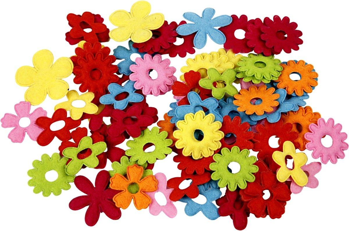 Bloemen van vilt, grootste maat 35x45 mm, 135 assorti kopen