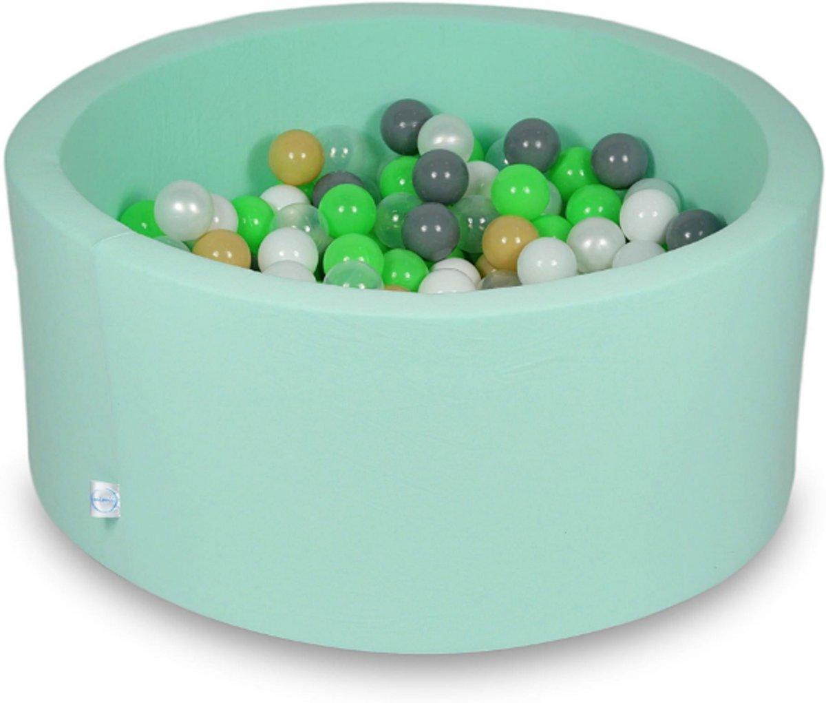 Ballenbak - 300 ballen - 90 x 40 cm - ballenbad - rond mint groen