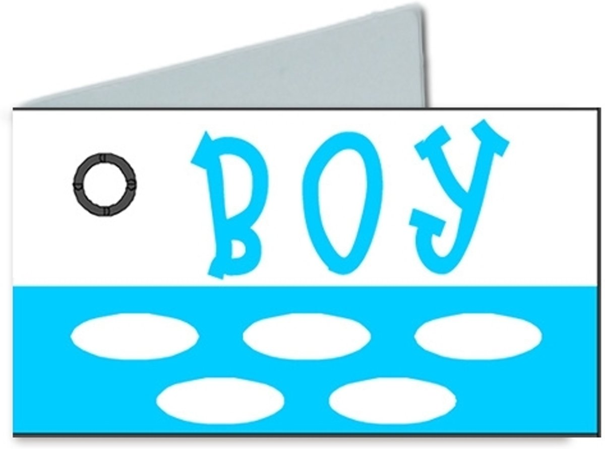 36 naamkaartjes 'boy' met stippen kopen