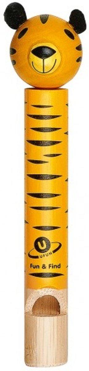 Moses Bamboe Dierenfluitje Tijger 12 Cm Geel kopen