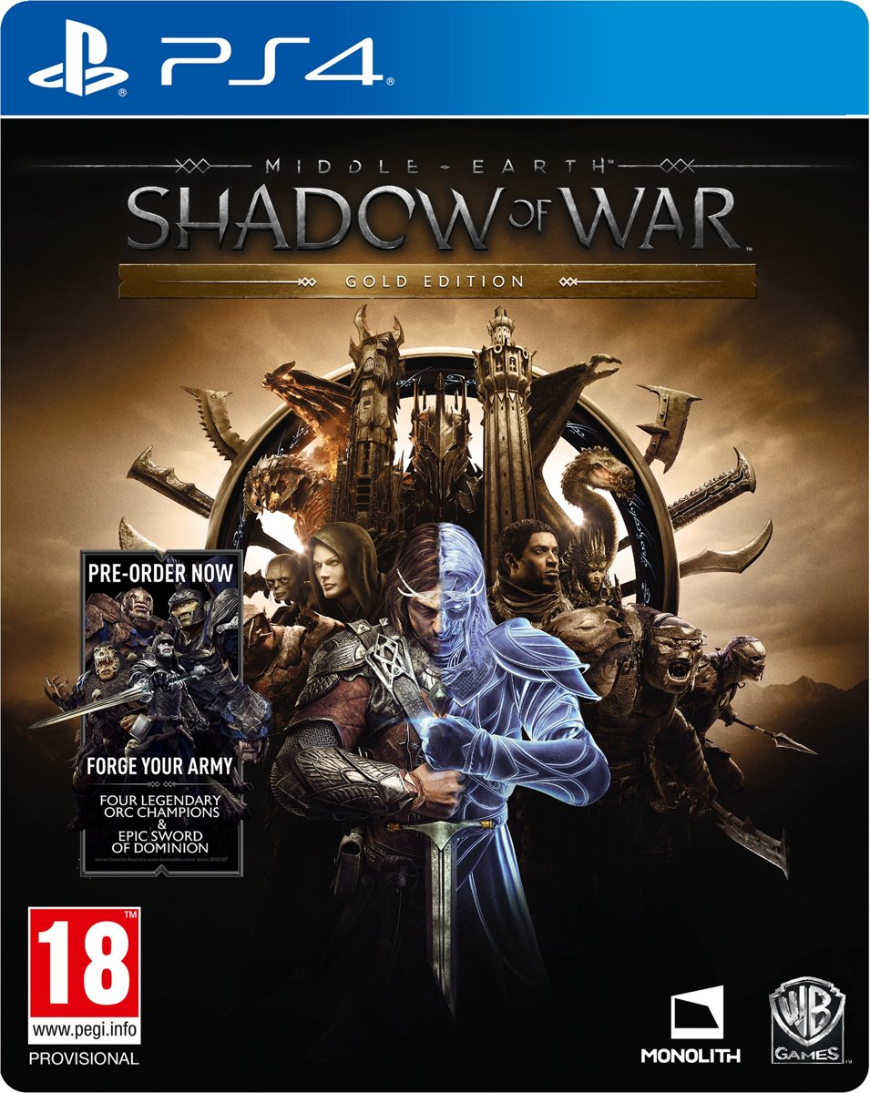 Middle-Earth: Shadow Of War - Gold Edition PlayStation 4