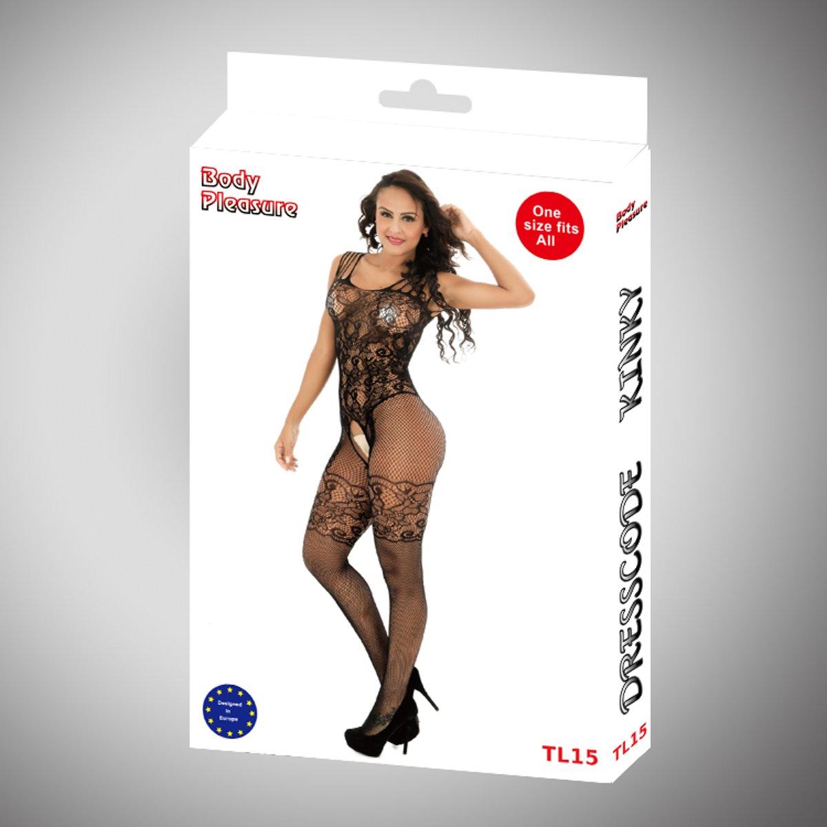Foto van Body Pleasure - Super Lingerie set - Super uitdagende Body - TL15 - Verpakt in gave body pleasure cadeaubox
