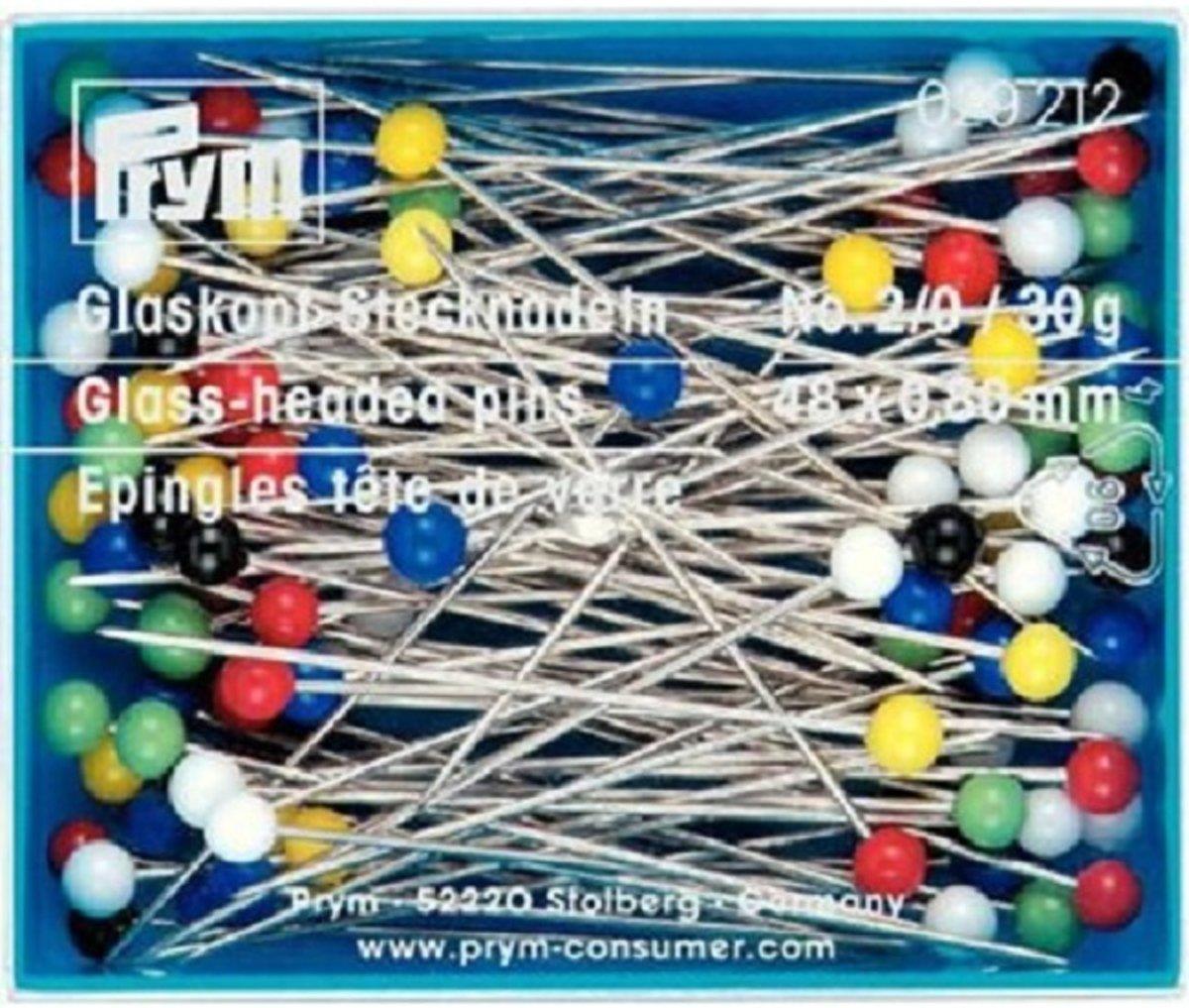 Prym Glaskopspelden groot 48 x 0,80 mm  No 2/0  30 gram kopen