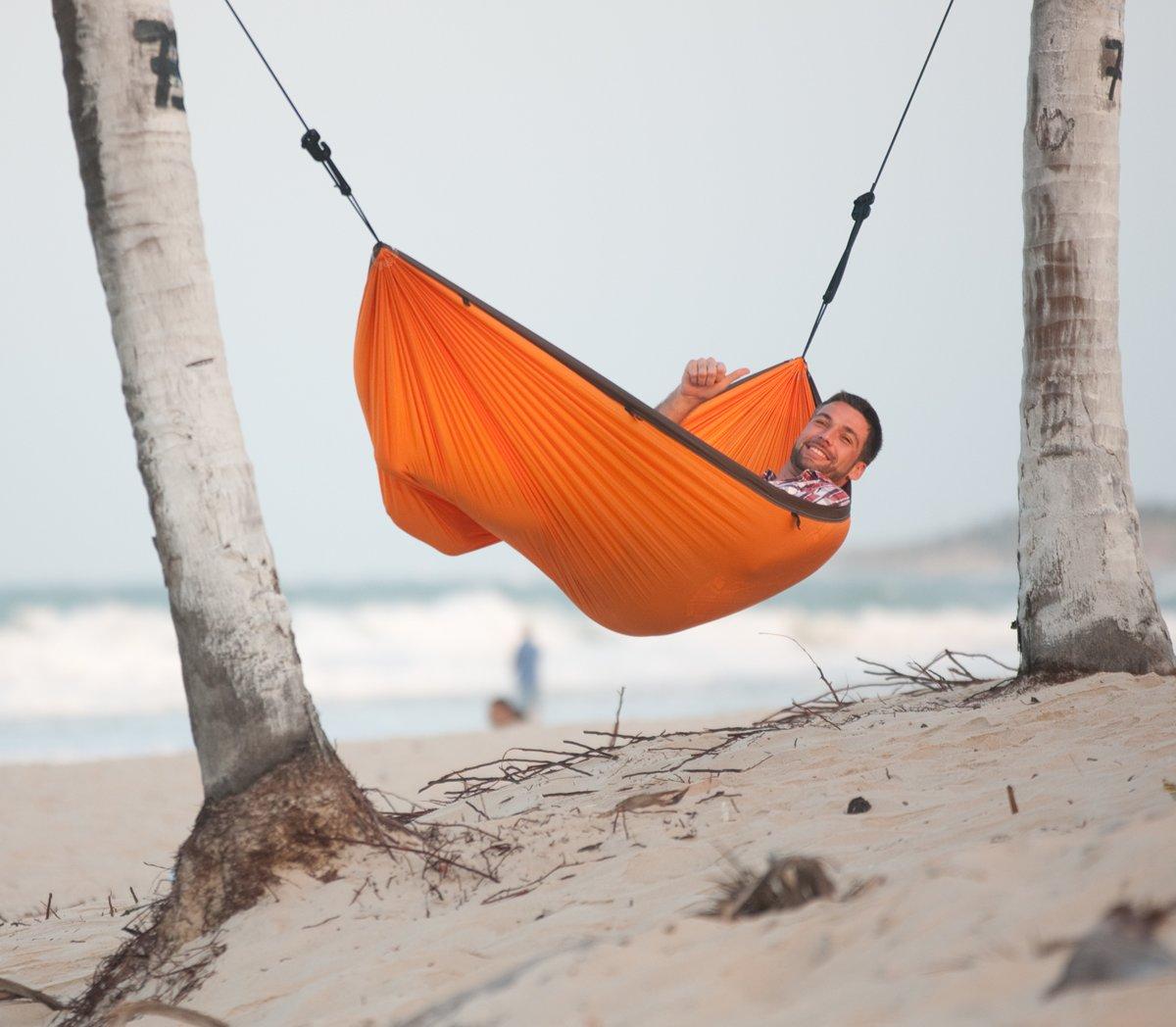 Hangmat De Mafmat.La Siesta Reishangmat Colibri Orange Single