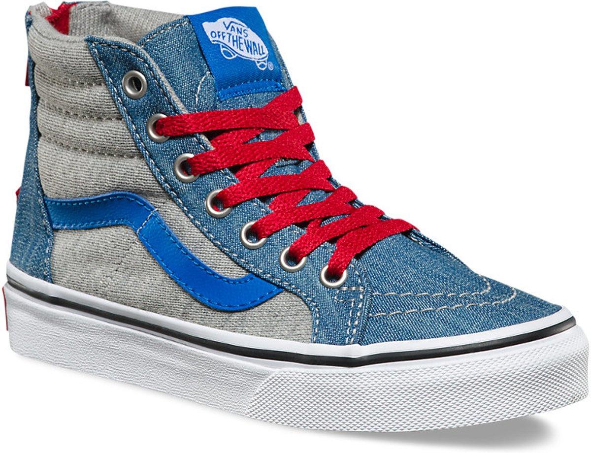 Fourgons Espadrille Enfants - Sk8 Salut-zip (jersey Et Denim) - Baskets Impériales - Enfants - Bleu - Taille 35 lLC7nwR58O
