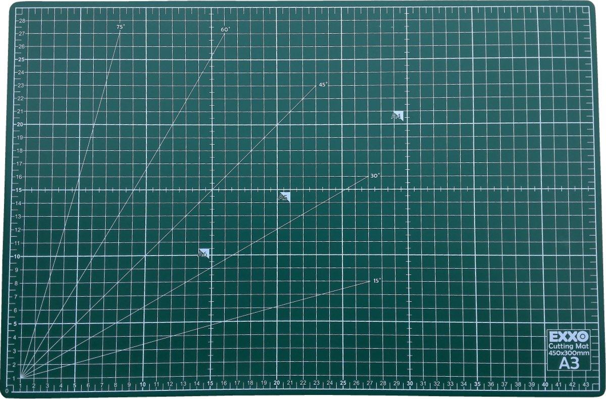 EXXO # 10070 - A3 Snijmat - 5-laags zelfhelend - 2-zijdige rasterdruk - 30x45cm kopen