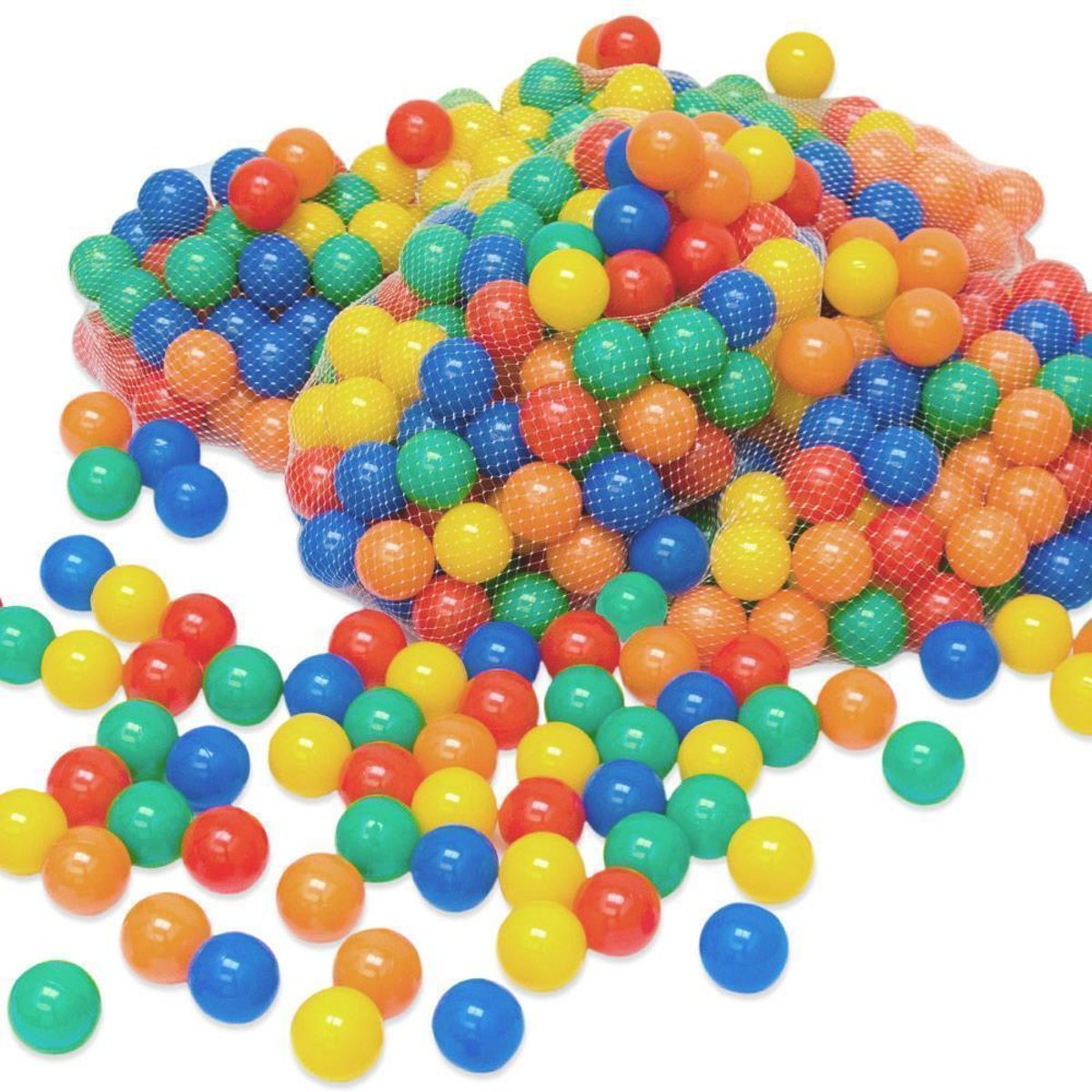 LittleTom 200 Baby Ballenbak Ballen - Ø 6cm - SGS-certificaat vanaf 0 Jaar - Multicolor Mix - gekleurde Kunststof Speelballen voor Binnen en Buiten