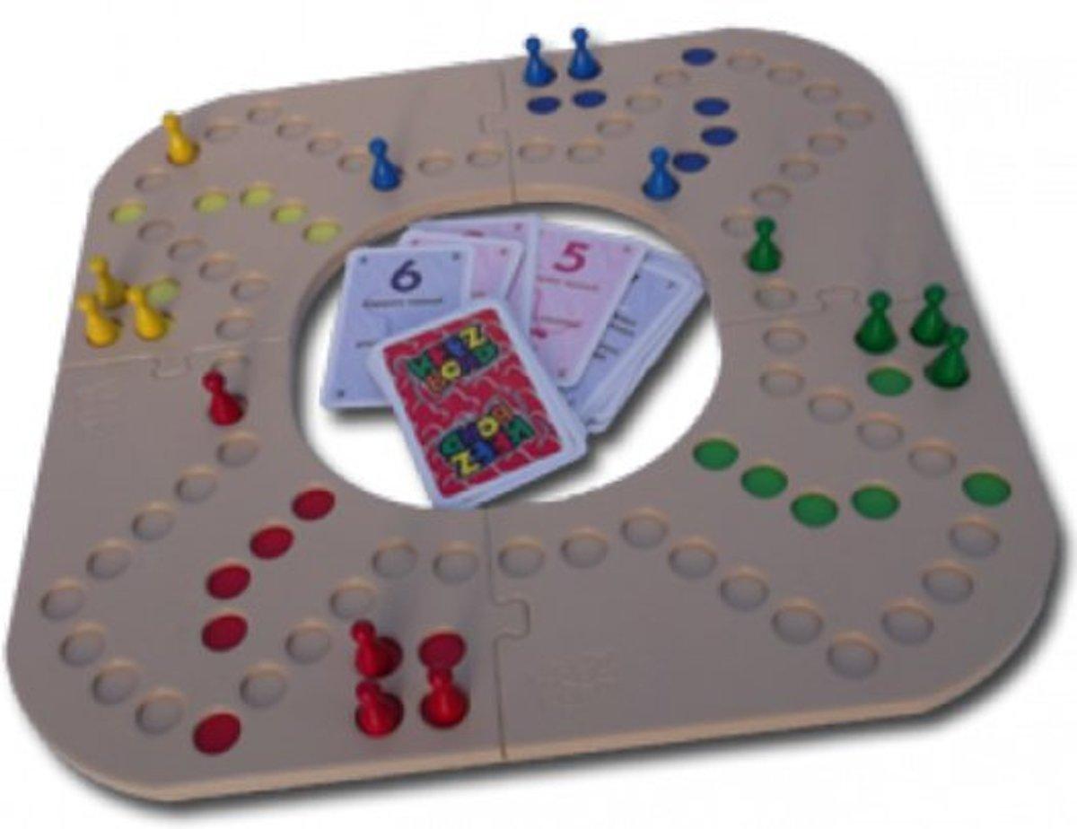 Keezenbord 4 pers kunstof puzzelstukken