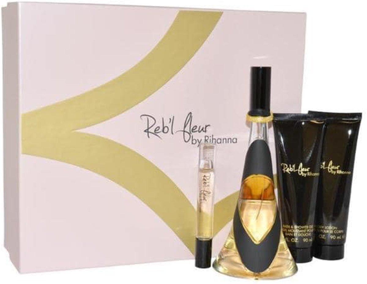Rihanna Reb'l Fleur for Women 4 delig Geschenkset