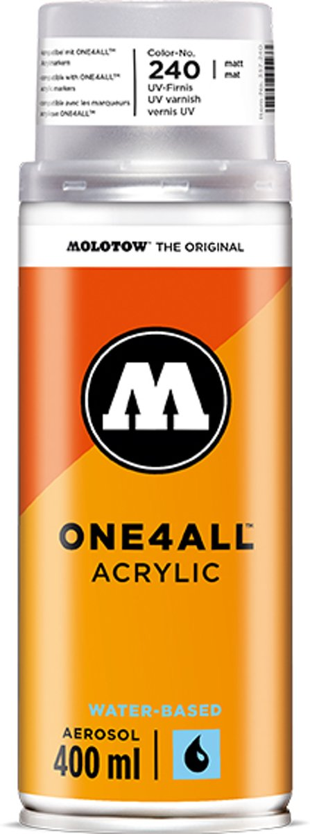 Molotow ONE4ALL Acryl Vernis - Mat 400ml - canvas, textiel, metaal, hout, glas etc. kopen