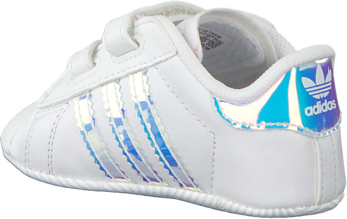 Adidas Meisjes Babyschoenen Superstar Crib Wit Maat 21