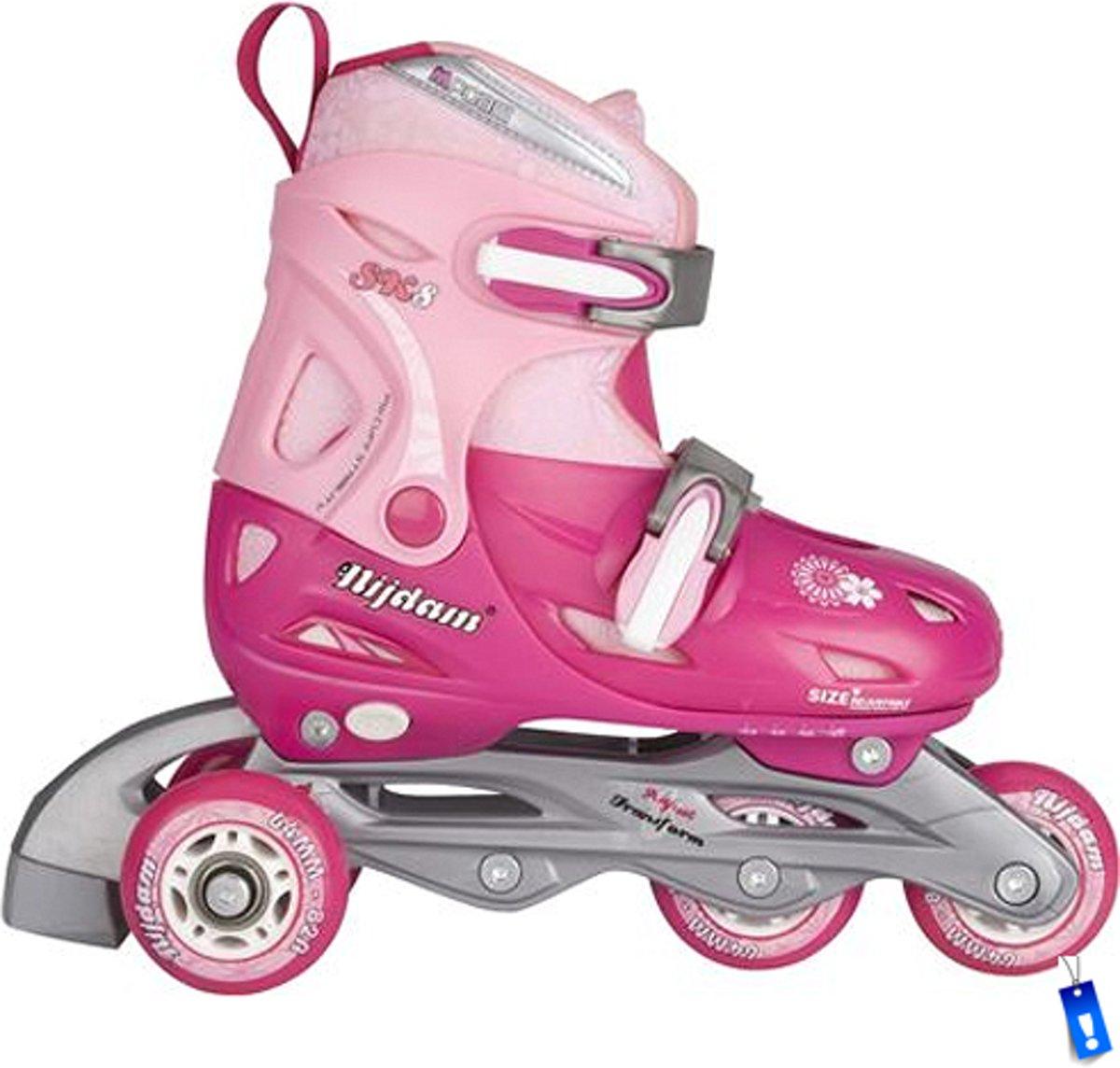 89ff0adf6b8 Inline Skates Rolschaatsen Quads - 3 in 1 - Meisjes Verstelbaar - Roze - maat  30