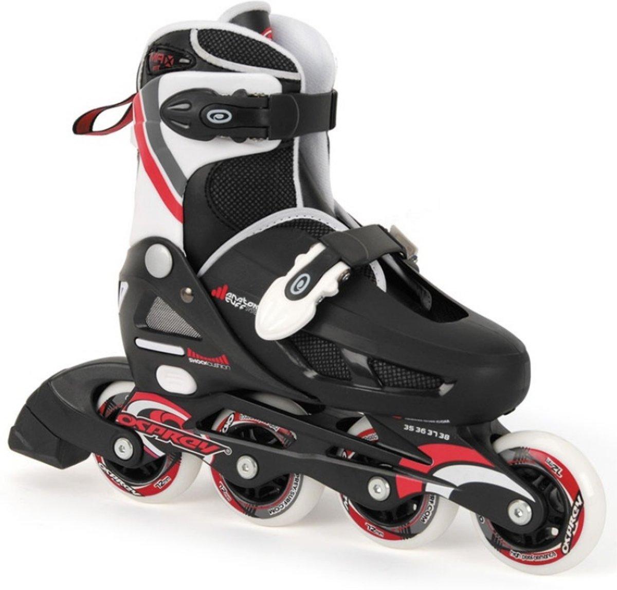 899434aa4bd Osprey Jongens inline skates verstelbaar zwart rood maat 31-33