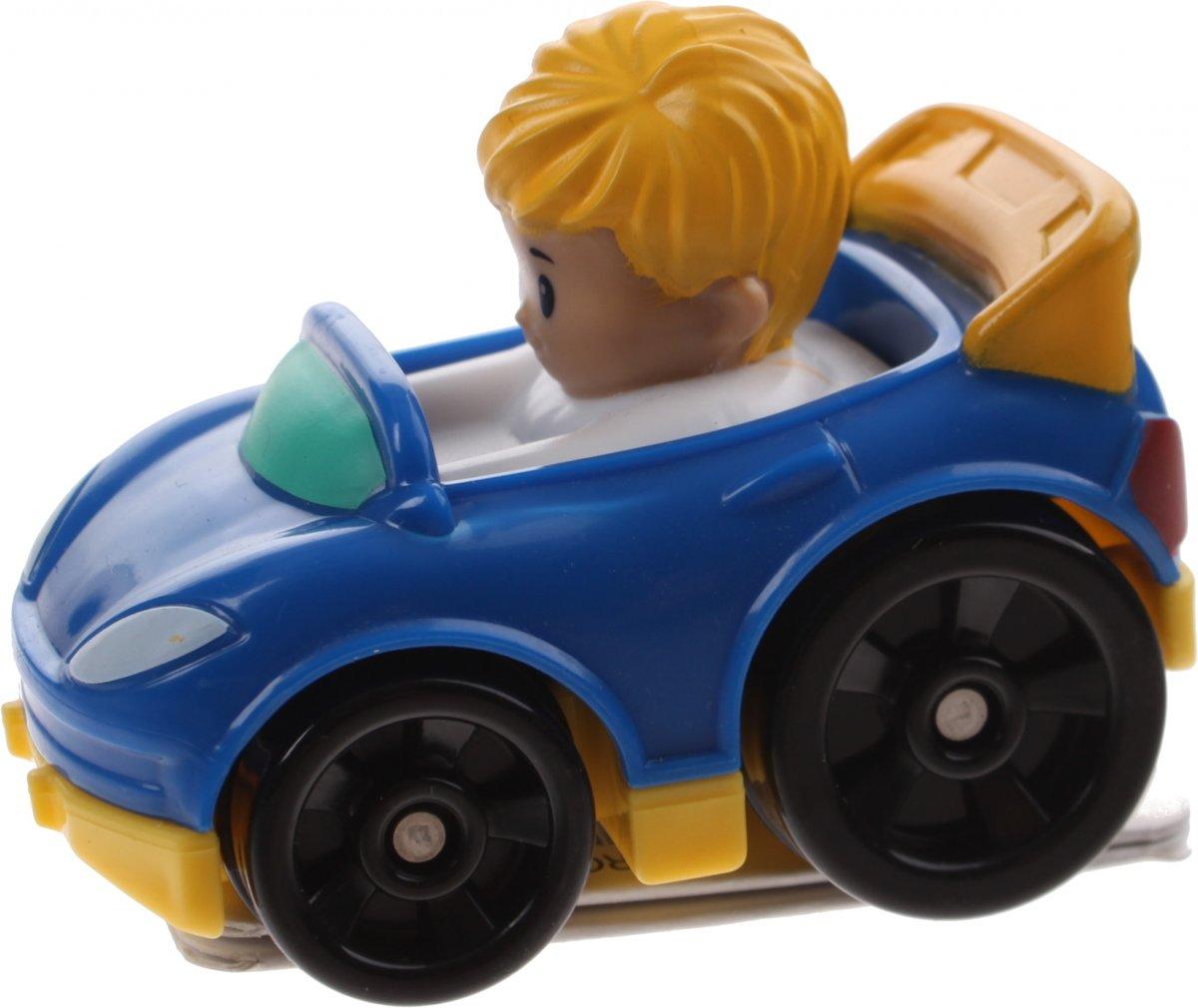 Fisher-price Little People Wheelies Auto 6,5 Cm Blauw (drg96)