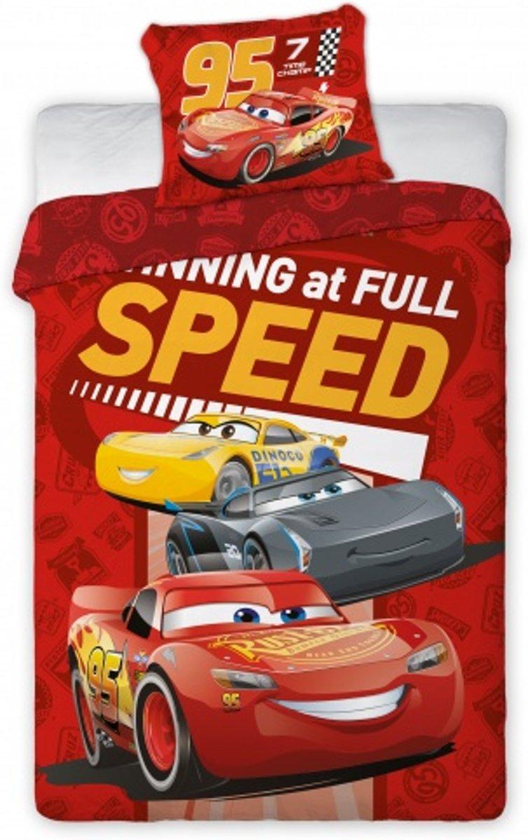 Disney Dekbedovertrek Cars Mcqueen 140 X 200 Cm Rood kopen