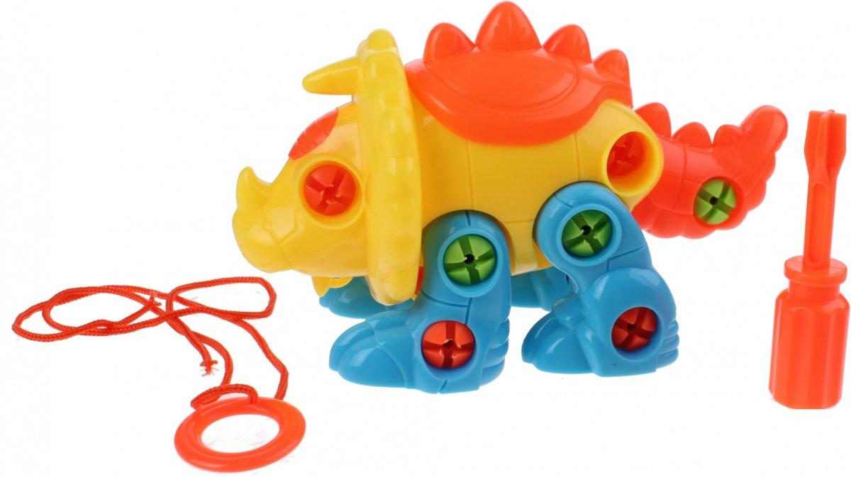 Toi-toys Bouw Je Eigen Dino 17 Cm Junior Oranje/geel/blauw kopen