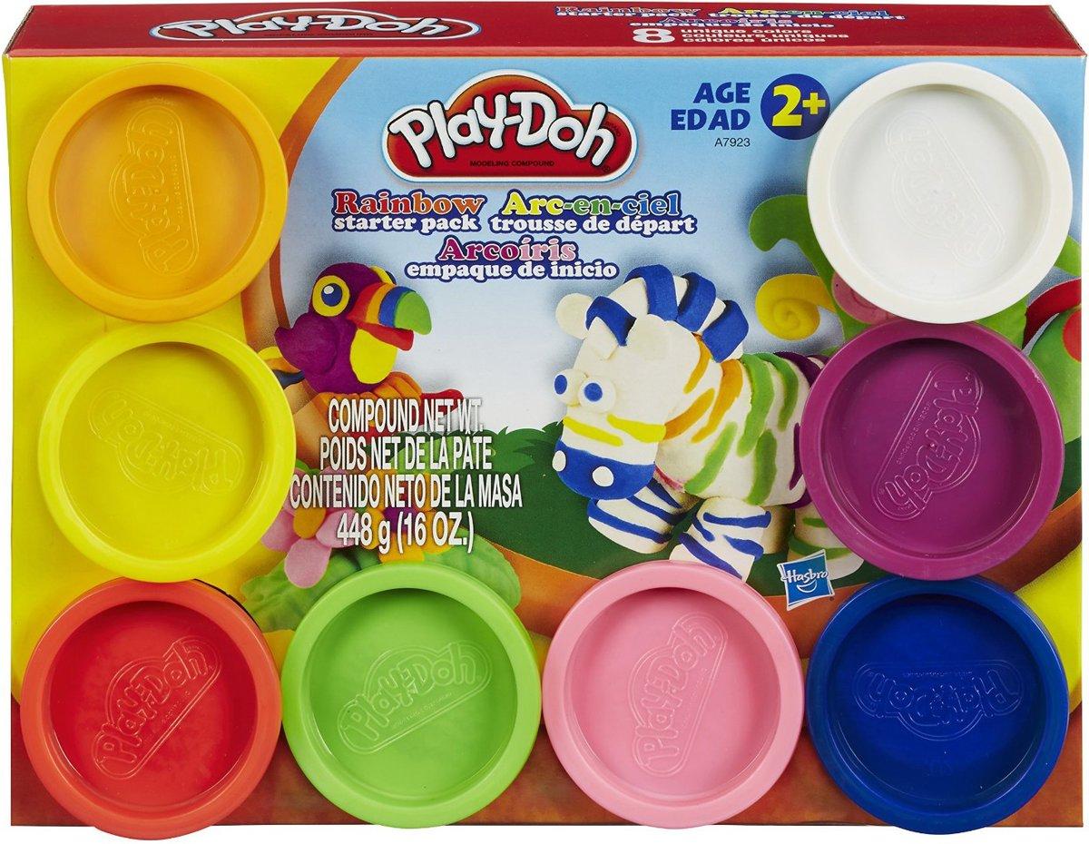 Play-Doh Regenboog pack 8 kleuren - 448 gram - Kleine potjes klei
