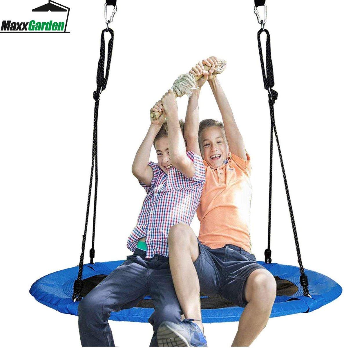 MaxxGarden  Nestschommel 90cm - BLAUW