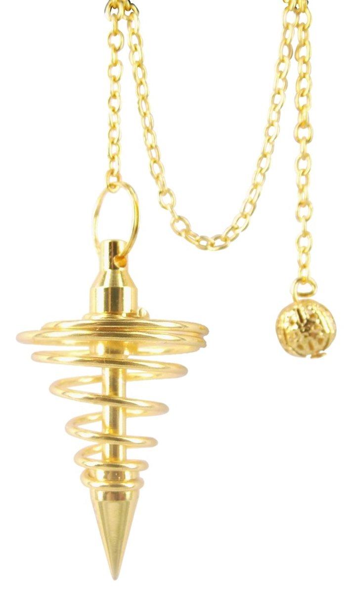 Pendel messing, goudkleur spiraal kopen