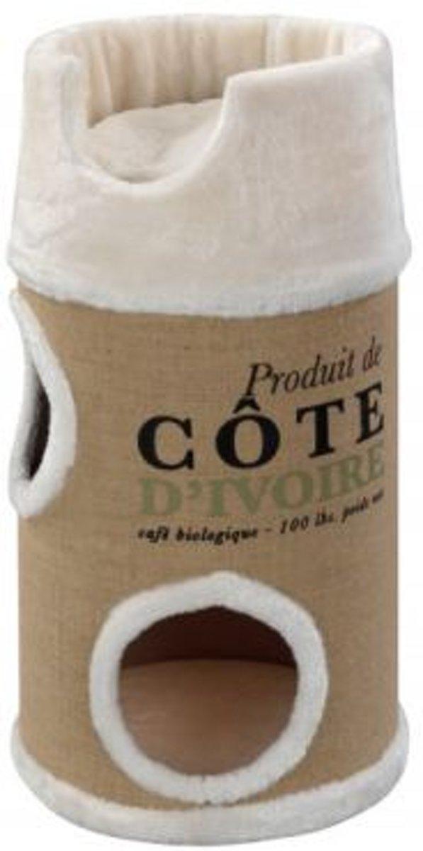 D&D Homecollection Krabton Cote D Ivoire Catdome Creme - 34X34X72 CM