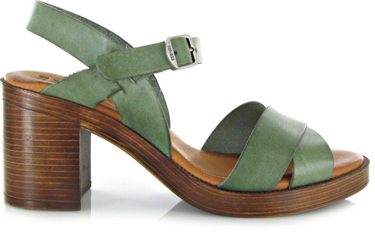 RED-RAG Dames Sandalen 79174 - Groen - Maat 40 kopen