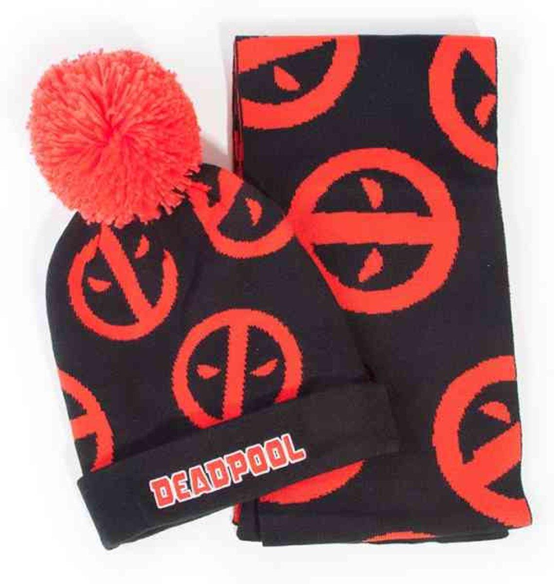 Deadpool - Symbol Beanie & Scarf Giftset kopen