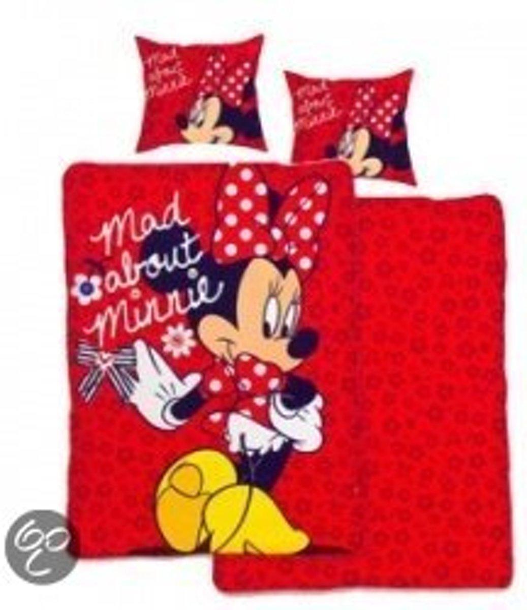 Disney Minnie Mouse - Dekbedovertrekset - Eenpersoons - 140x200 cm - Rood kopen