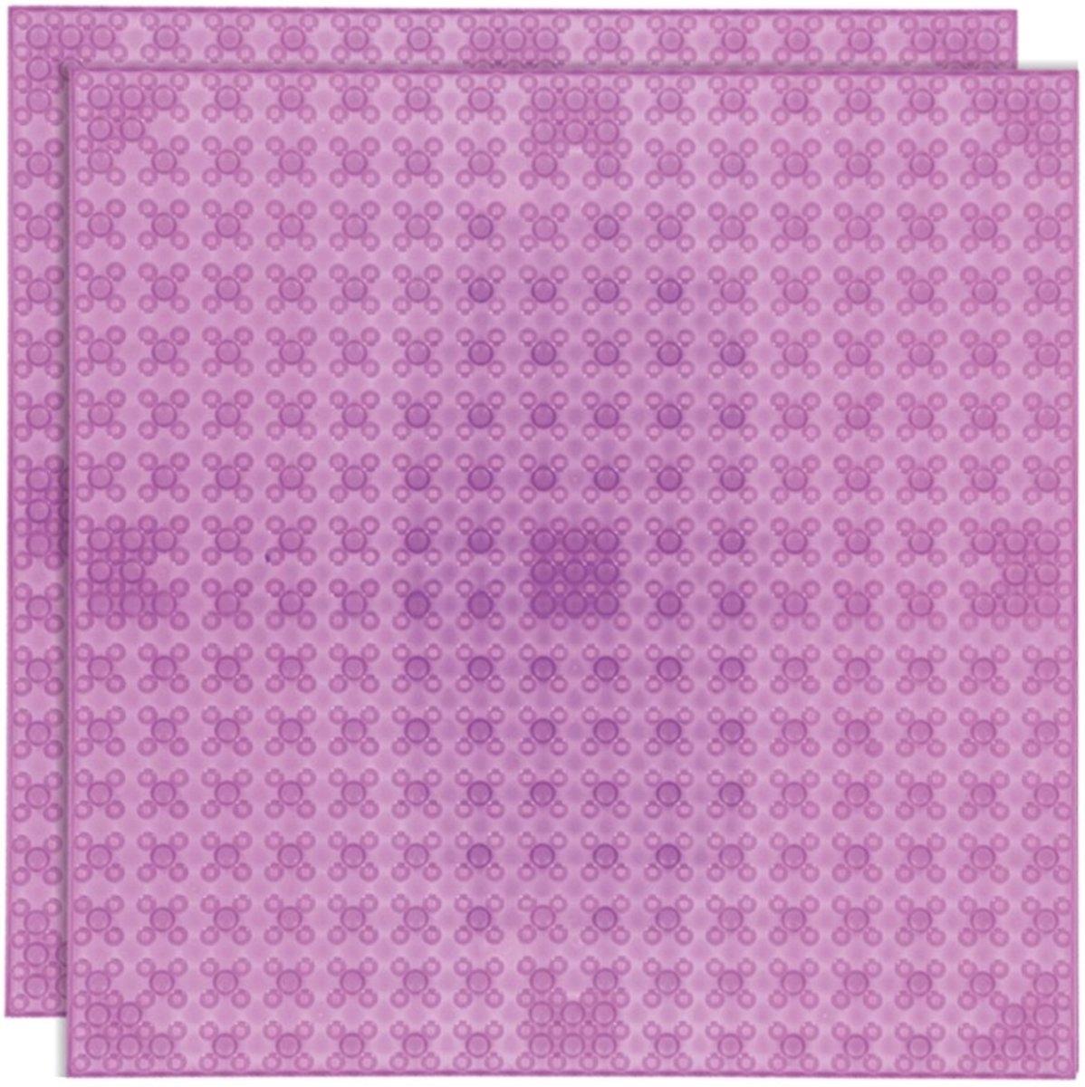 Strictly BRIKS LBP322TTM Bouwplaat 32x32 Transparant Magenta Duopak
