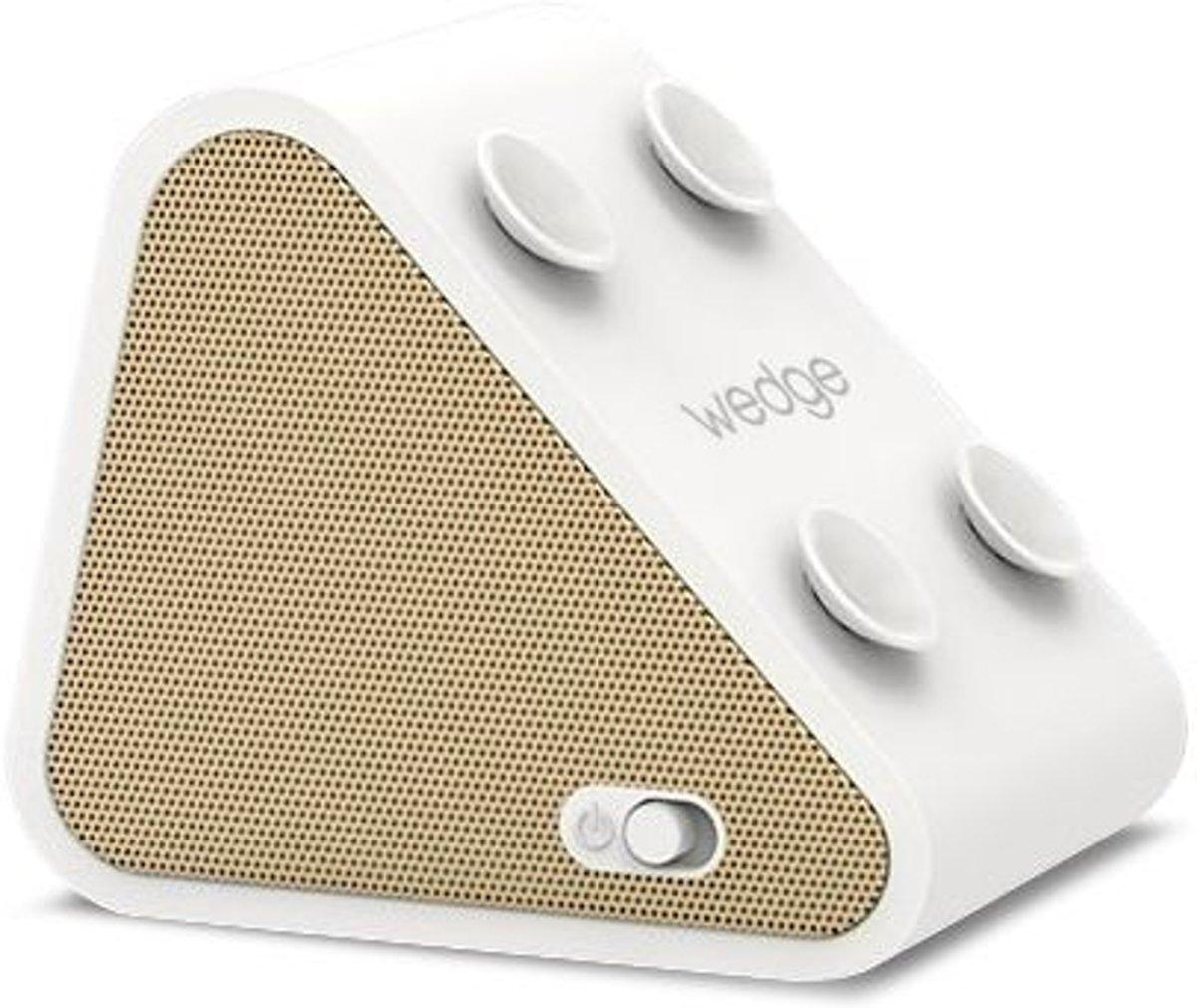 Antec Wedge 2 in 1 Compact Bluetooth Speaker met Smartphone houder - Goudkleurig