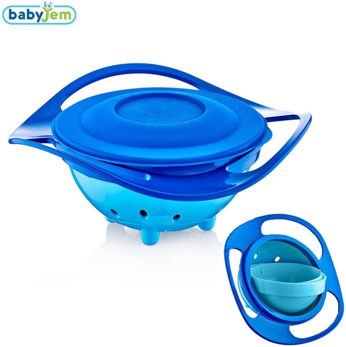 Babyjem Blauwe Amazing Kom , 360 Graden Rotatie , Met Klep , Kind Kom , Baby voeden , BPA vrij , leuk , Functioneel , Baby's voeden kopen