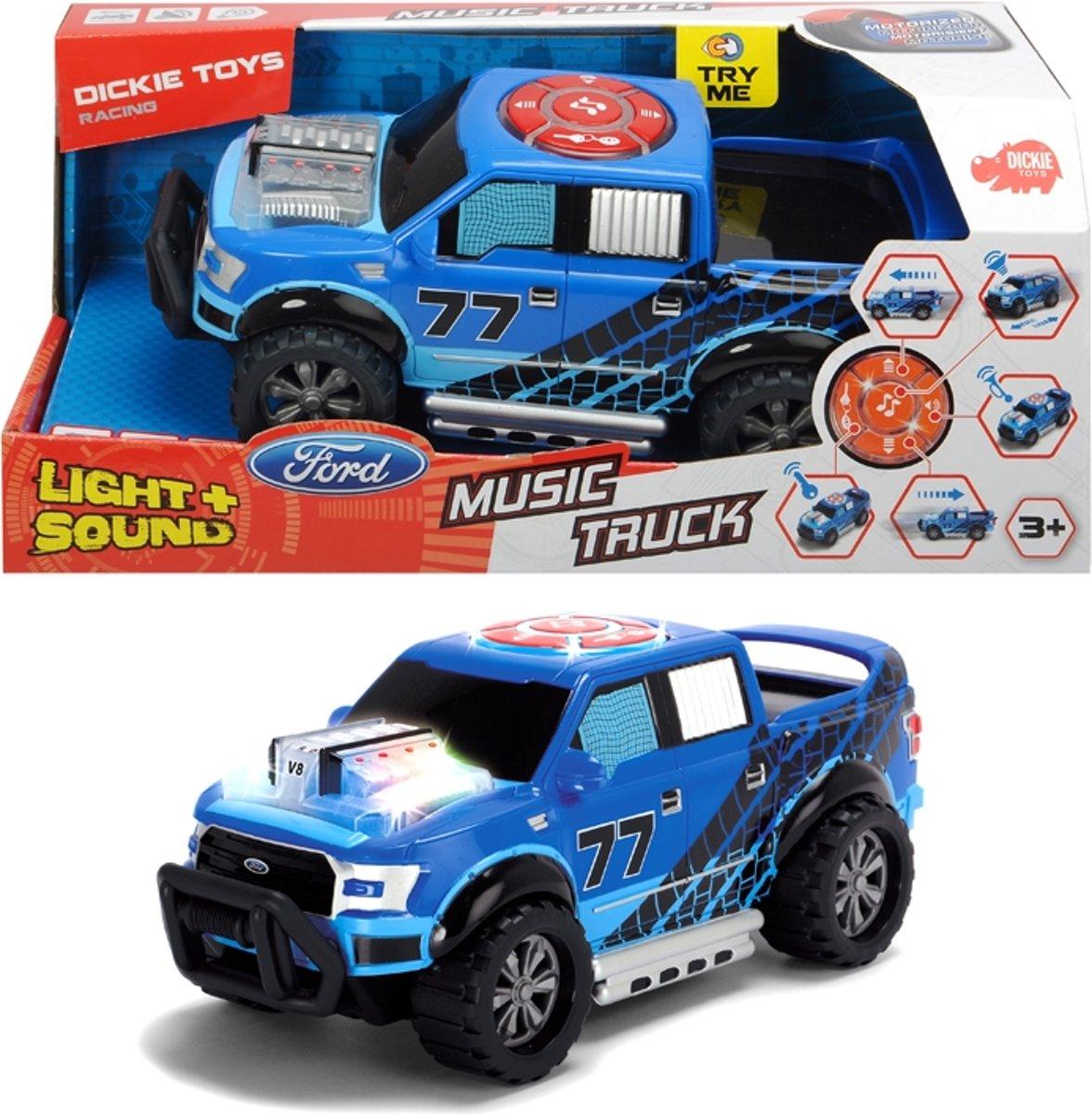 Auto - Music Truck - 23 Cm - Speelgoedvoertuig - Licht en geluid
