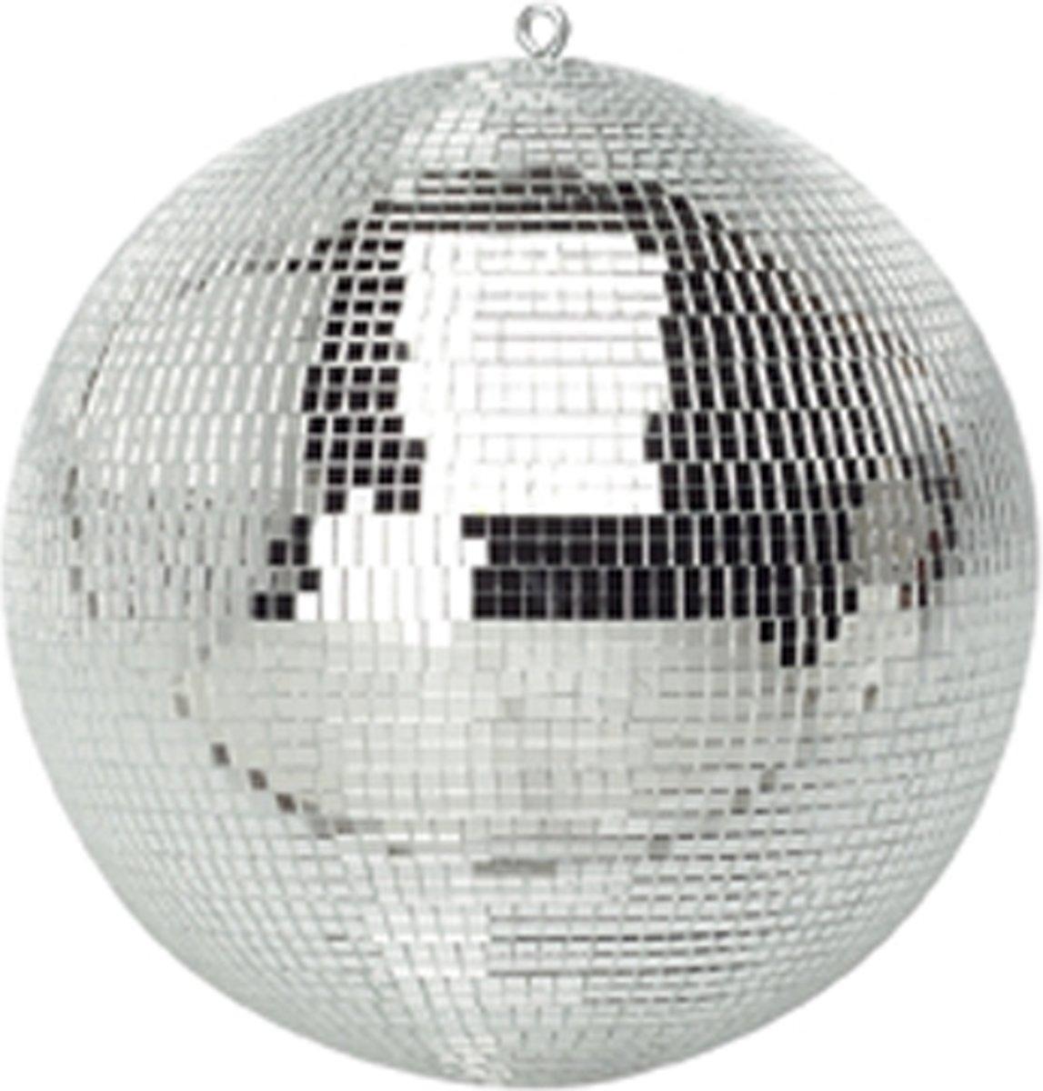 Spiegelbol discobol zilver - 30 cm