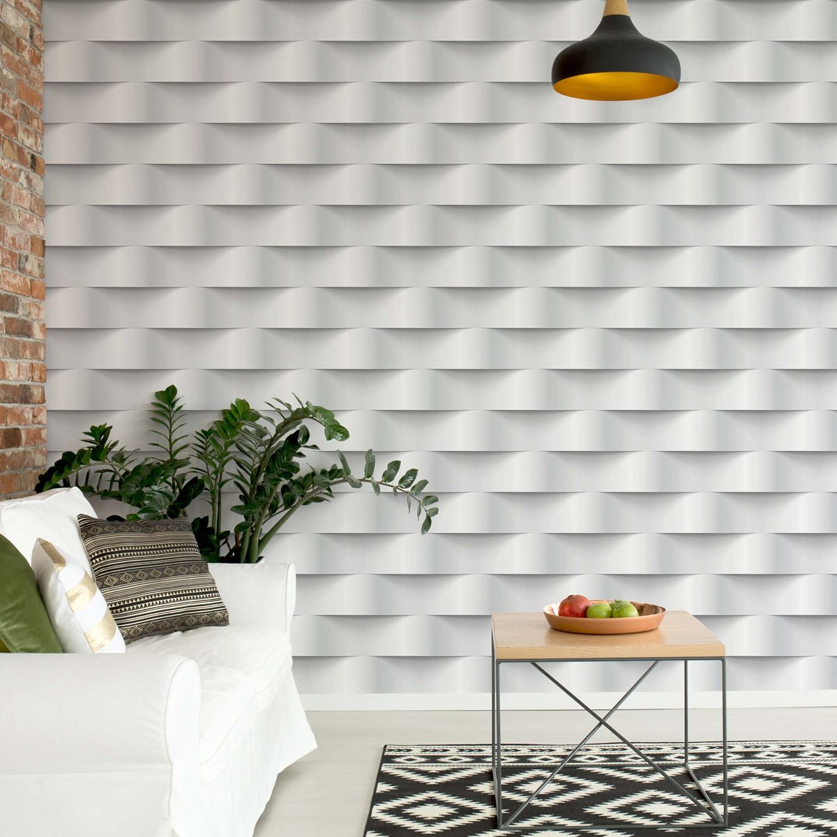 Fotobehang 3D Grey And White Pattern   V4 - 254cm x 184cm   130gr/m2 Vlies kopen