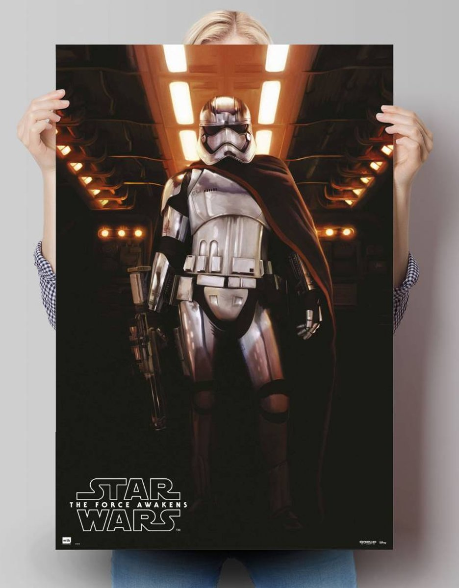 STAR WARS EPISODE VII THE FORCE AWAKENS captain Phasma  - Poster 61 x 91.5 cm kopen