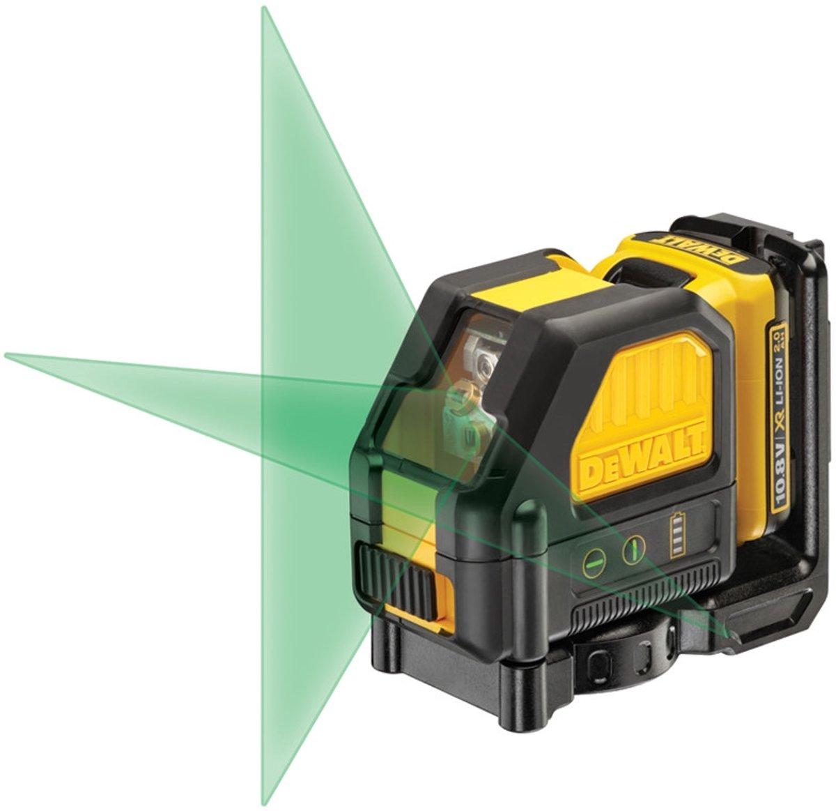 DeWALT DCE088D1G Zelfniv Kruislijnlaser Groen 10.8V 2.0Ah XR Li-ion kopen