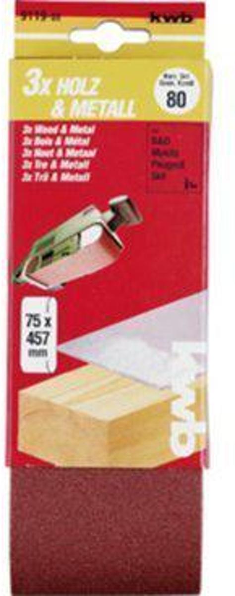 KWB Schuurbanden 75 x 457 - 3 Stuks - Korrel 150 kopen