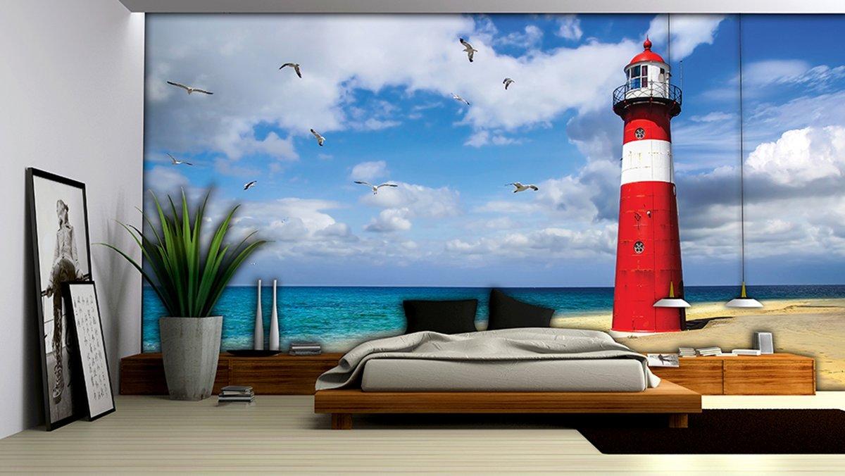 Lighthouse Beach Photo Wallcovering kopen