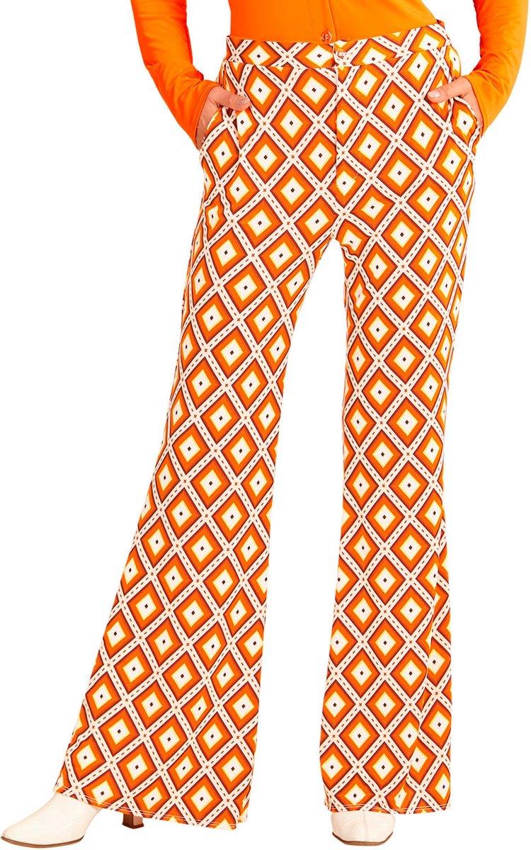 Retro jaren 70 groovy broek voor vrouwen - Volwassenen kostuums