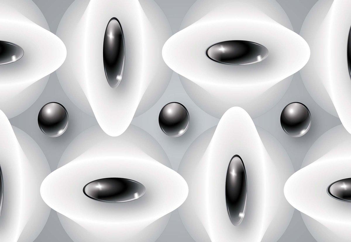 Fotobehang Abstract Modern Black White   L - 152.5cm x 104cm   130g/m2 Vlies kopen