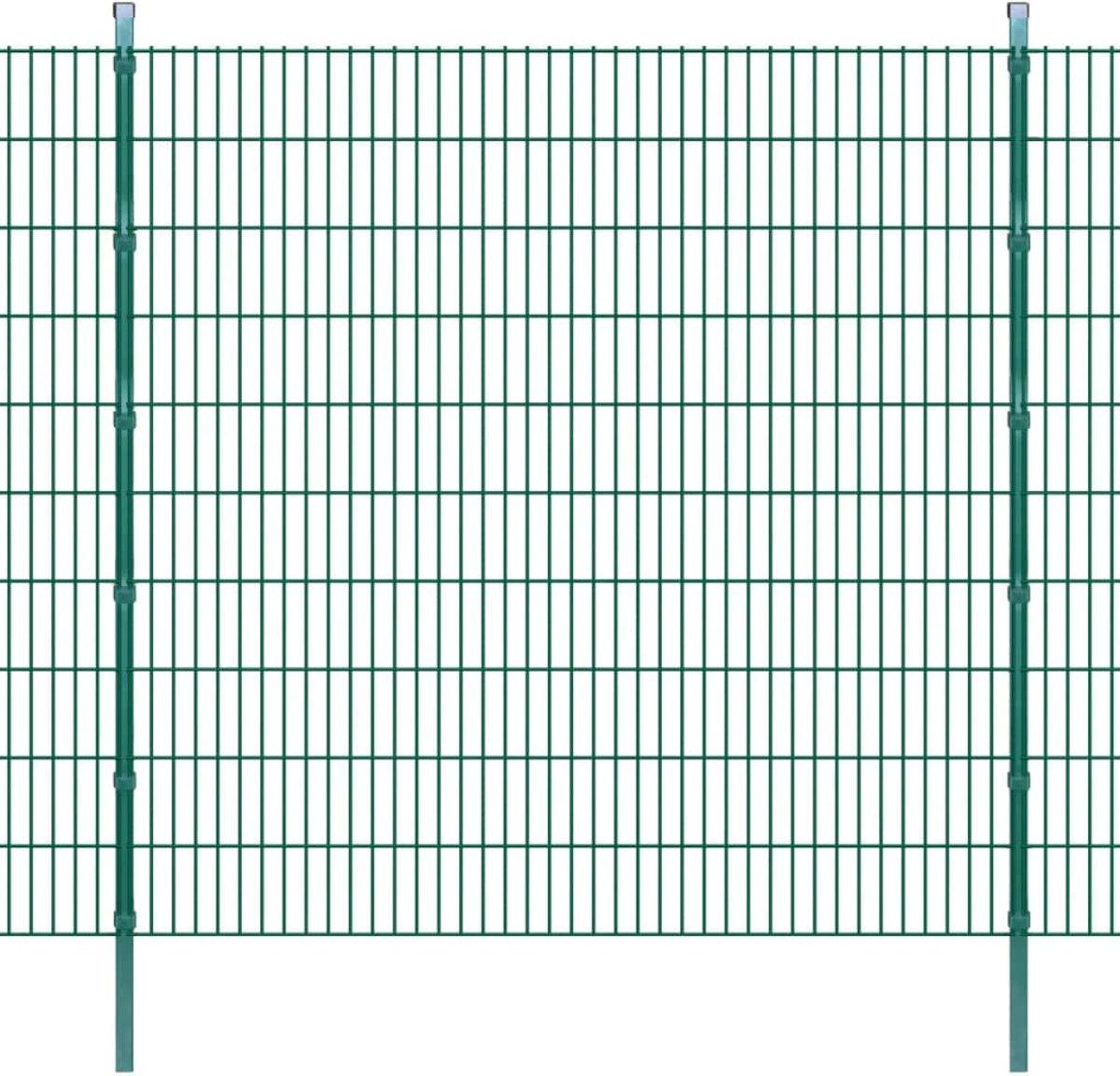 vidaXL Dubbelstaafmat 2008 x 2030 mm 28 m groen 14 stuks kopen